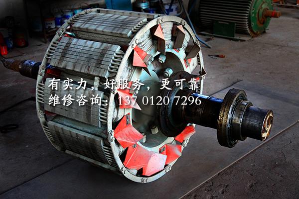 625KW发电机转子维修