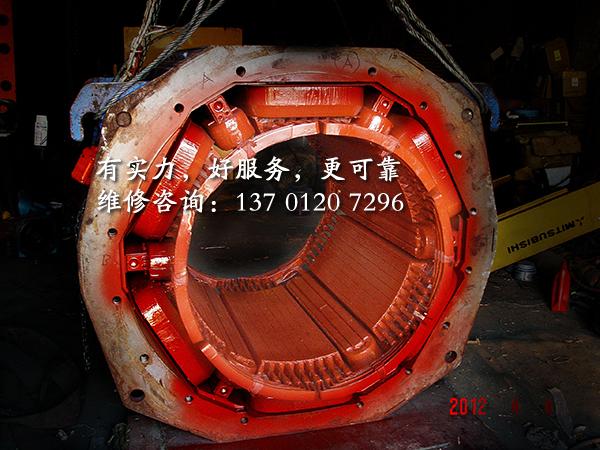 1500KW直流电机维修
